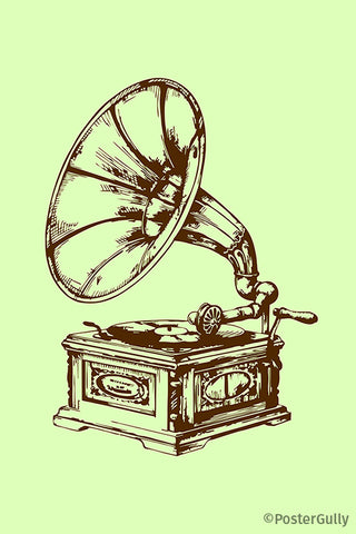 Retro Gramophone Vintage Artwork