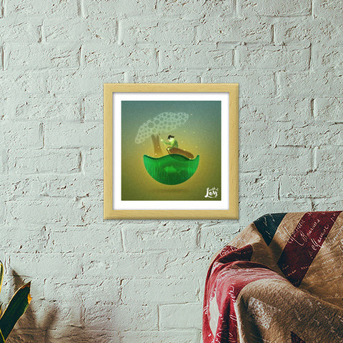 World of Loy Premium Square Italian Wooden Frames | Artist : Aniket Mitra