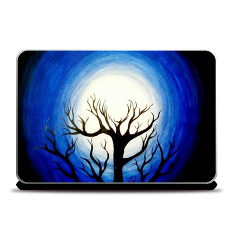 Holding the Moon Painting Laptop Skins | Artist : Pallavi Rawal