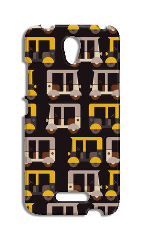 Auto rickshaw seamless illustration Redmi Note 2 Cases | Artist : Designerchennai