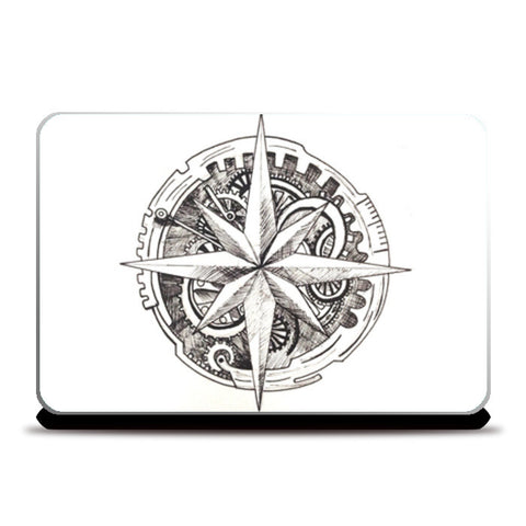 Antique Compass Laptop Skins | Artist : Swathi Kirthyvasan