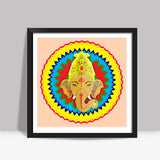 Ganesha Vector Illustration Square Art Prints | Artist : Ajay Seth