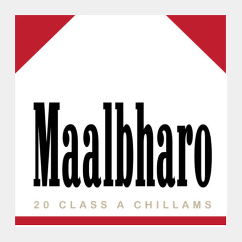 Maalbharo - A Tribute To Marlboro And Tea Lovers ! Square Art Prints PosterGully Specials