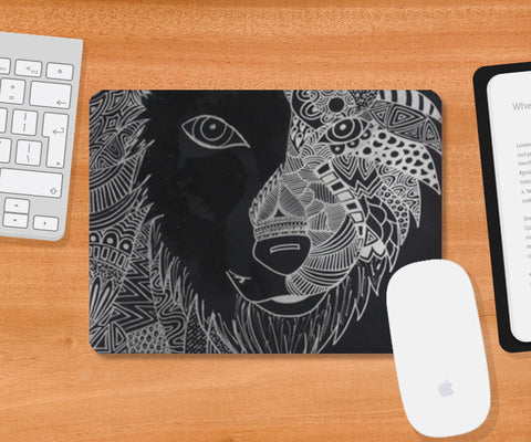 The tiger lion Mousepad | Artist : Pranita Bajoria