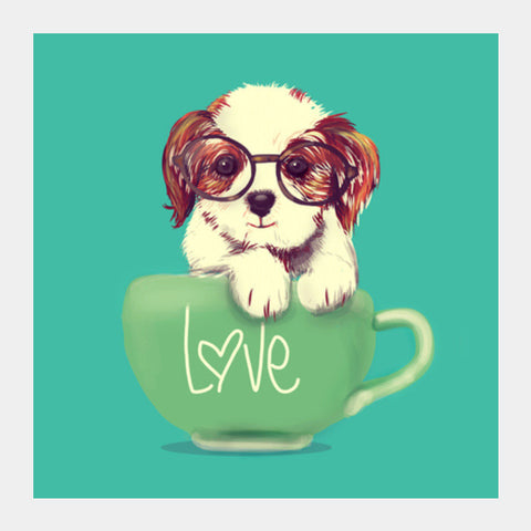 Square Art Prints, doggie Square Art Prints | Artist : abhijeet sinha, - PosterGully