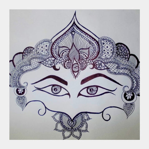 Women is POWER Doodle Square Art Prints | Artist : Pallavi Rawal