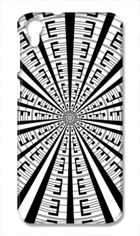 Abstract Geometric Black And White Radial Line Art Design  HTC Desire 828 Cases | Artist : Seema Hooda