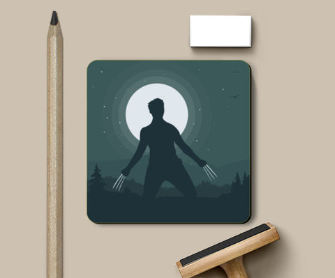Wolverine in Night Coasters | Artist : Darshan Gajara's Artwork