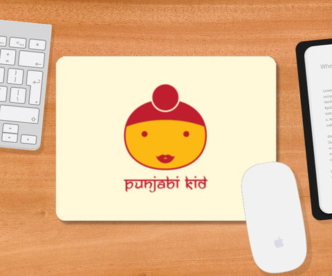 Indian Punjabi Kid Mousepad | Artist : Mani Selvam