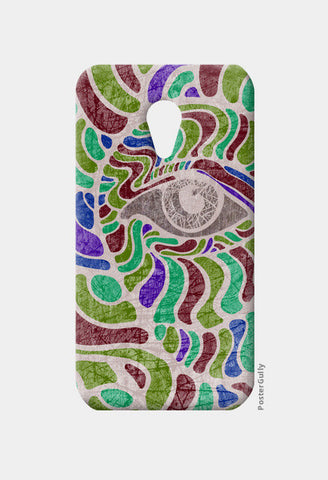 abstract eye colorful vector illustration Moto G2 Cases | Artist : Simran Sain