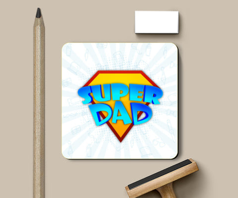 Super Dad Symbol Father's Day | #Father's Day Special  Coasters | Artist : Creative DJ