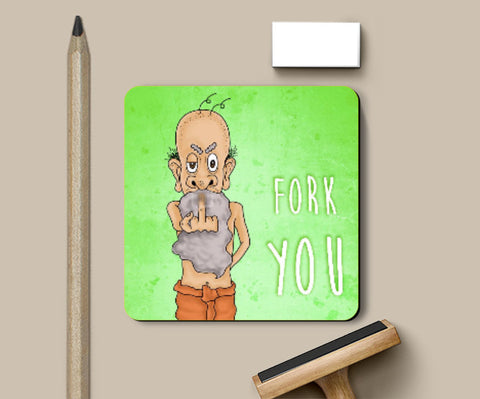 Coasters, Fork You Coaster | Artist: Pushkar Priyadarshi, - PosterGully