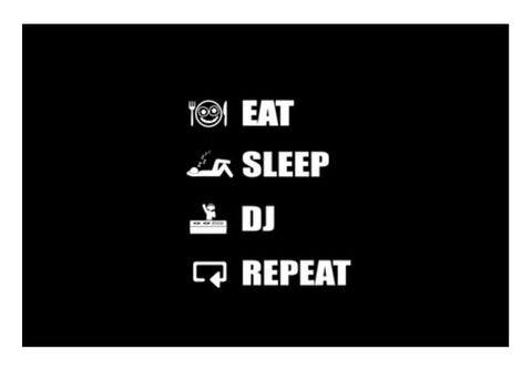 Wall Art, EAT SLEEP DJ REPEAT- Wall Art | Artist : DJ Ravish, - PosterGully