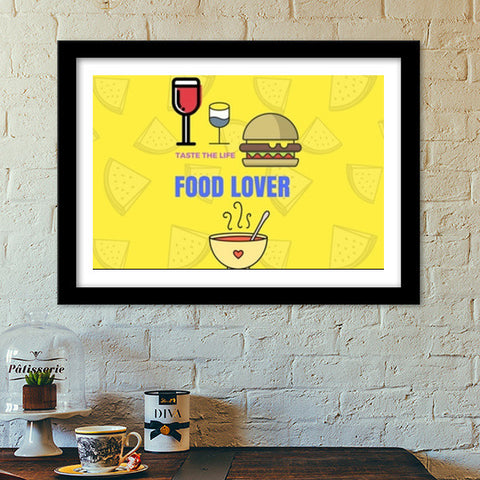 The Food Lover Premium Italian Wooden Frames | Artist : Pallavi Rawal