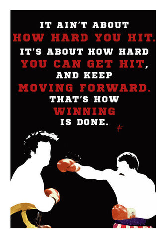 Rocky Balboa Vs Apollo Creed Quote  Wall Art | Artist : Jason Ferrao