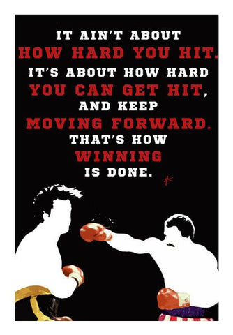 PosterGully Specials, Rocky Balboa Vs Apollo Creed Quote  Wall Art | Artist : Jason Ferrao, - PosterGully