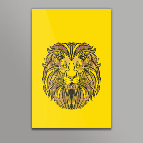 Lion Pop Art  Metal Prints | Artist : Inderpreet Singh