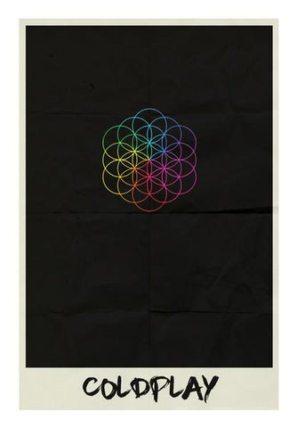 PosterGully Specials, COLDPLAY- HEAD FULL OF DREAMS MINIMAL ALBUM ART Wall Art | Artist : Naman Kapoor, - PosterGully