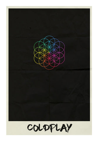 COLDPLAY- HEAD FULL OF DREAMS MINIMAL ALBUM ART Wall Art | Artist : Naman Kapoor