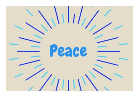 PEACE Wall Art PosterGully Specials