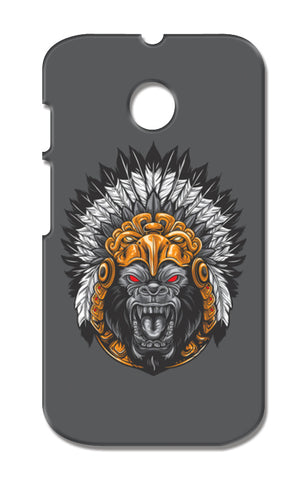 Gorilla Wearing Aztec Headdress Moto E XT1021 Cases | Artist : Inderpreet Singh