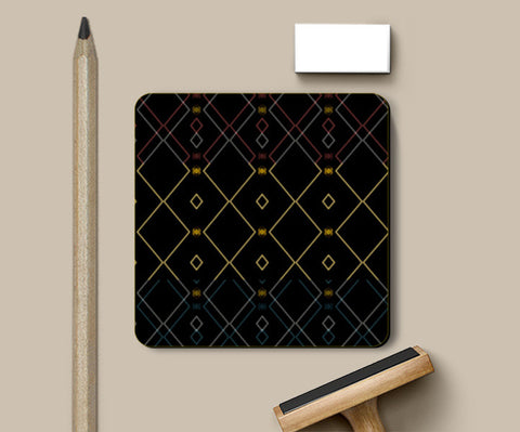 Pattern design in black Coasters | Artist : Amar Singha