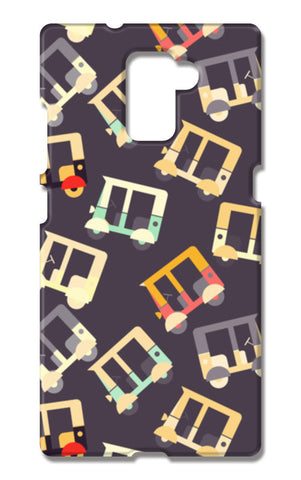 Auto rickshaw quirky pattern Huawei Honor 7 Cases | Artist : Designerchennai