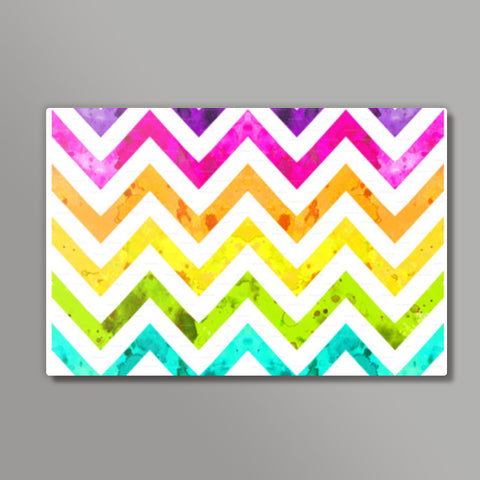 rainbow chevrons Metal Prints | Artist : Fariya Arts