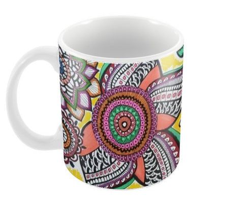Happy Flowers Coffee Mugs | Artist : Kathak Trivedi
