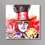 Mad Hatter Square Art Prints | Artist : Delusion