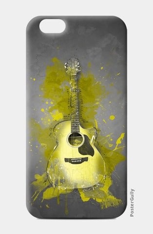 Guitar Splash – Yellow iPhone 6/6S Cases | Artist : Darshan Gajara's Artwork