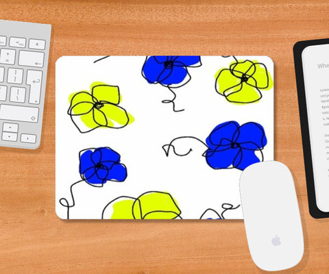 Mousepad, abstract floral Mousepad | Artist : Rutubala Bhogshetti, - PosterGully