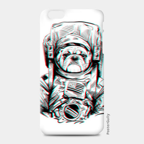 3D Space Dog iPhone 6 Plus/6S Plus Cases | Artist : Pulkit Taneja