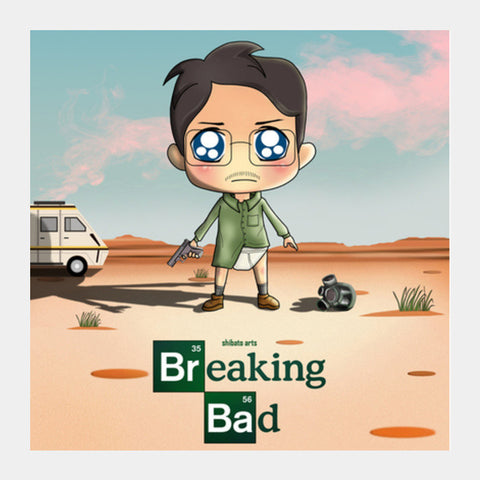 Square Art Prints, Cute Breaking Bad  Square Art Prints | Artist : Toshib Bagde, - PosterGully