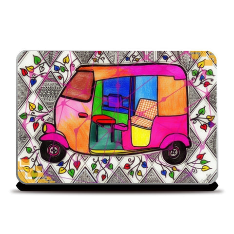 Laptop Skins, Indian Rickshaw Laptop Skin Laptop Skins | Artist : Navya Rao, - PosterGully