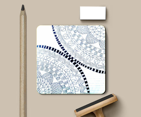 Symme3 (Doodle All The Way!) Coasters | Artist : Hansika Sachdeva