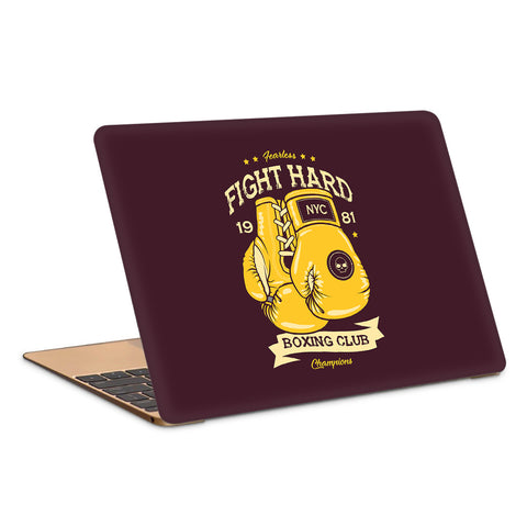 Boxing Club Fight Hard Artwork Laptop Skin