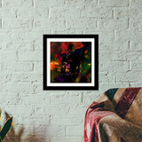 The Buddha Dark Night Premium Square Italian Wooden Frames | Artist : Tiny Dots