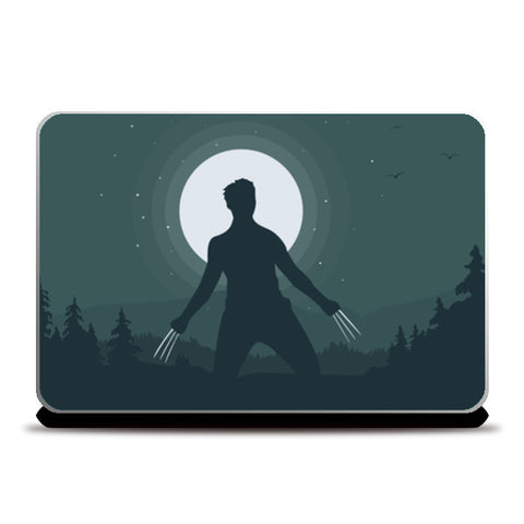 Wolverine in Night Laptop Skins | Artist : Darshan Gajara's Artwork