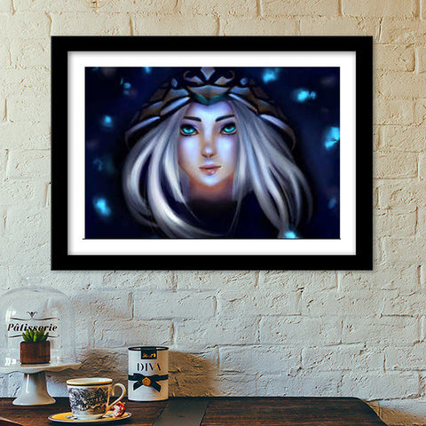 Ashe from league of legends Premium Italian Wooden Frames | Artist : Scribbles