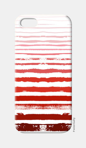 Uneven Red Stripes  iPhone 5 Cases | Artist : Amantrika Saraogi
