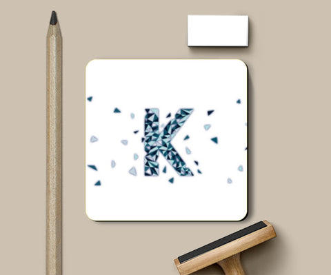 PosterGully Coasters, Alphabet K Coasters | Artist : Kinjal Waghela, - PosterGully