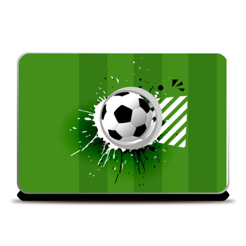 Football In Paint Bucket | #Footballfan Laptop Skins | Artist : Creative DJ