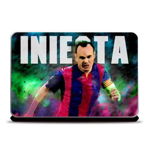 iniesta in colours Laptop Skins | Artist : ASHUTOSH RAI