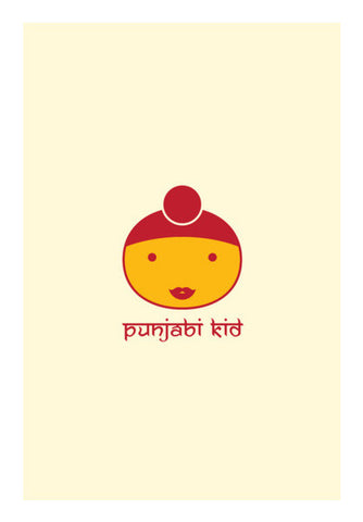 Indian Punjabi Kid Wall Art | Artist : Mani Selvam
