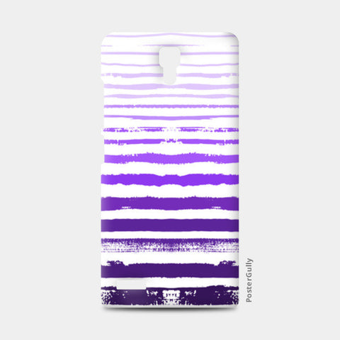 Uneven Purple Stripes Redmi Note Cases | Artist : Amantrika Saraogi
