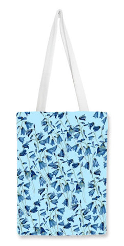 Tote Bags, Trendy Painted Blue Summer Floral Pattern  Tote Bags | Artist : Seema Hooda, - PosterGully
