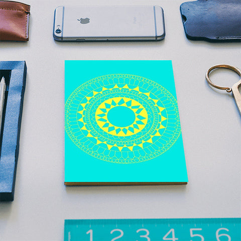 Yellow Blue Mandala Notebook | Artist : Megha Vohra