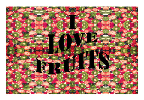 Summer Fruit Salad Kaleidoscope Pattern Illustration Art PosterGully Specials