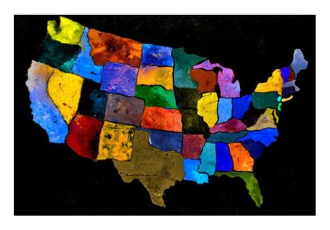 PosterGully Specials, Usa map 2 Wall Art | Artist : pol ledent, - PosterGully